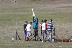 Student rocketry; photo courtesy of Tom Collett.