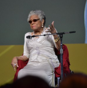 Maya Angelou addresses ASCD Conference in Chicago, 3/17/13 (photo by the author)