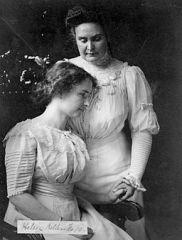 Helen Keller and Annie Sullivan. (Library of Congress, public domain)