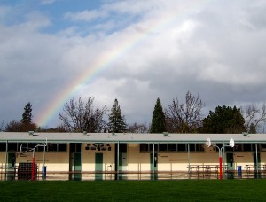 School at the end of the rainbow (photo by the author)