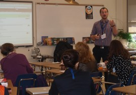 Matthew Lindner leading professional development for fellow teachers (photo by Tabitha Kappeler Hurley, used by permission)
