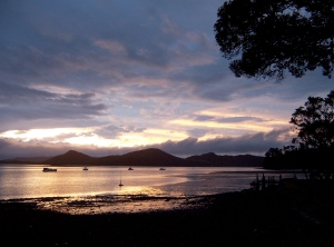 Sunset, Whangarei Harbour, New Zealand (photo by the author)